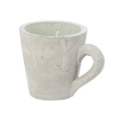 Dekorativní svíčka Mug zelená, 10,5 cm