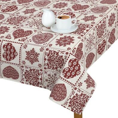 Faţă de masă Ivo Inimă, patchwork, 100 x 100 cm