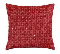 Polštářek Rita, červené čtverce, 40 x 40 cm