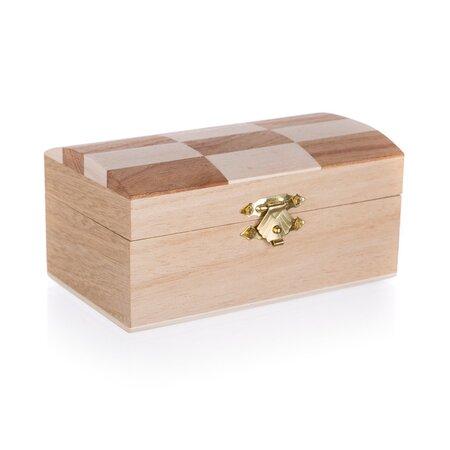 Drevená krabička Chess, 12 x 7 x 6 cm