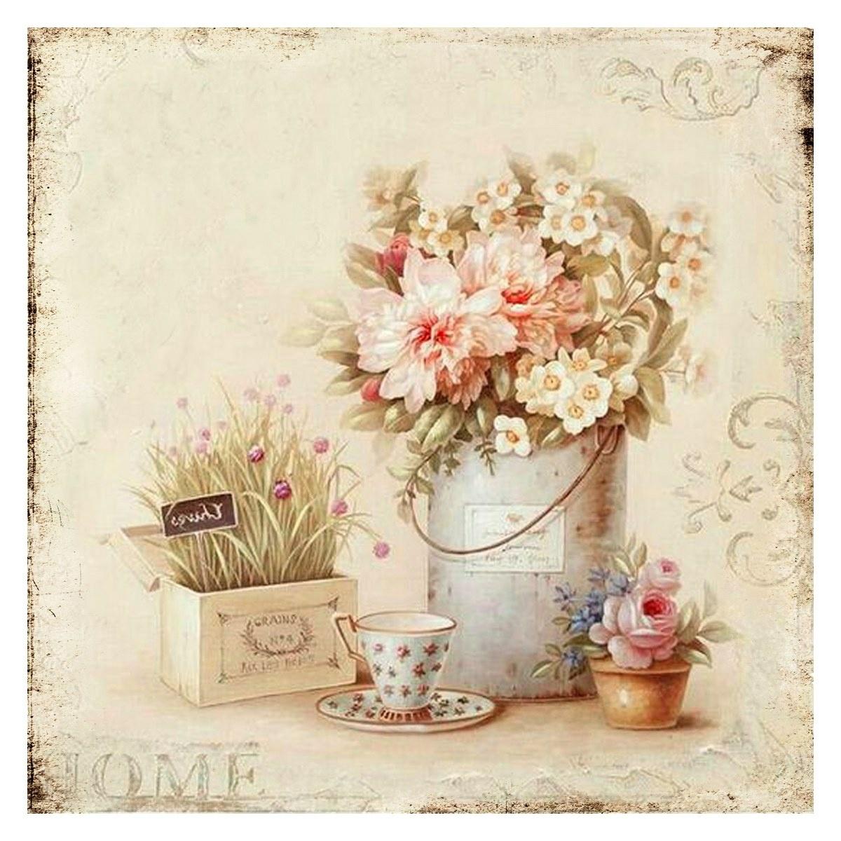 Obraz na plátne Romantic Home, 38 x 38 cm