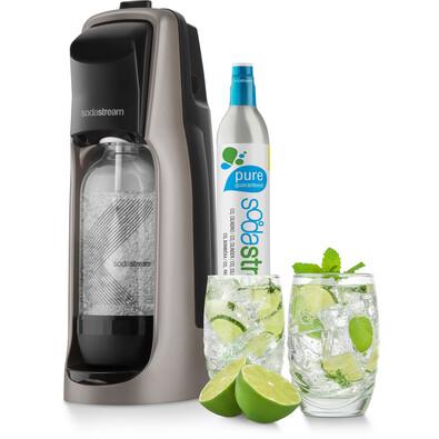 SodaStream Jet Premium Titan Výrobník perlivej vody, čierno-strieborná