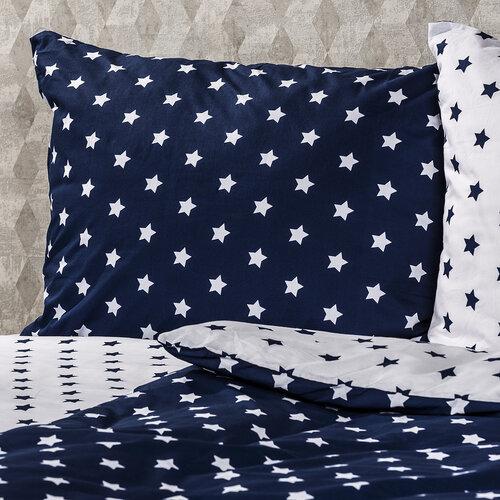 4Home Bavlněné povlečení Stars Navy blue, 140 x 220 cm, 70 x 90 cm
