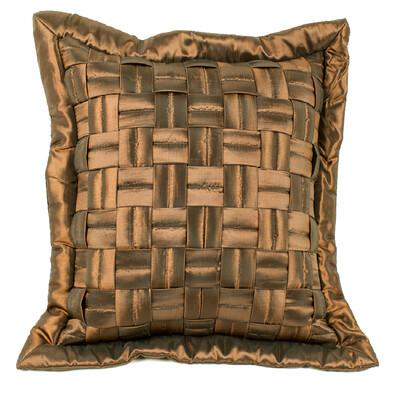 Povlak na polštářek mřížka hnědá, 45 x 45 cm