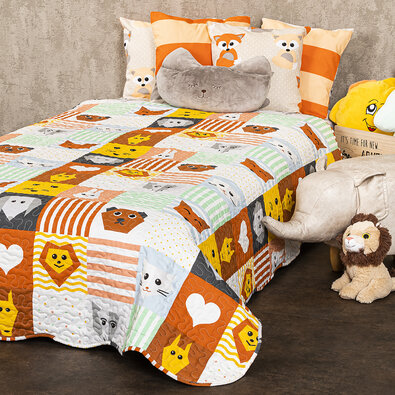 4Home Dětský přehoz na postel Patchwork, 140 x 200 cm