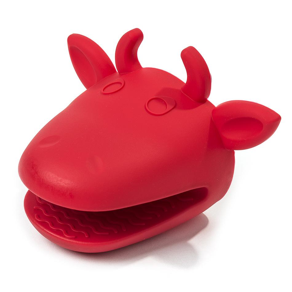 4Home Silikonová chňapka kravička