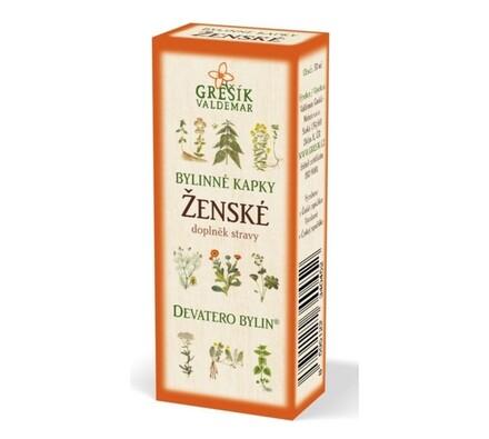 Ženské bylinné kapky Grešík 50 ml