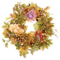 Őszi koszorú virágokkal, átmérő: 50 cm