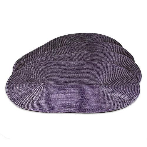 Suport farfurie Deco, oval, violet, 30 x 45 cm, set 4 buc.