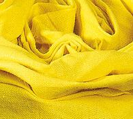 Plátěné prostěradlo na gumu, žlutá, 90 x 200 cm
