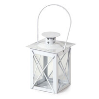 Kovový lampáš Brillare biela, 9 cm