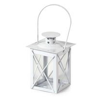 Metalowa latarnia Brillare biały, 12 cm