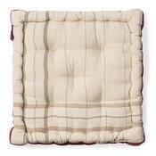 Sedák široký potištěný krémová, 36 x 36 cm