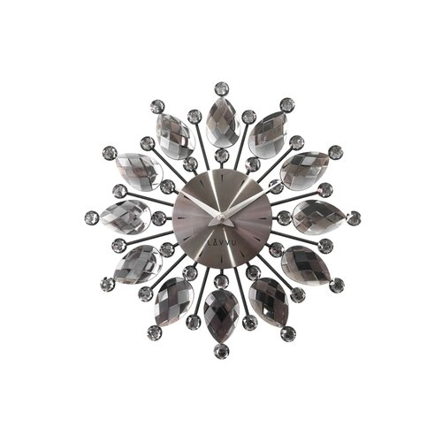 Nástěnné hodiny Lavvu Crystal Flower LCT1121 antracitová, pr. 33 cm
