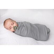 Rożek niemowlęcy ciemnoszary, 80 x 120 cm