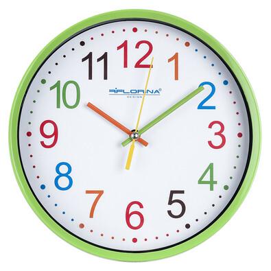 Nástěnné hodiny Color, zelená