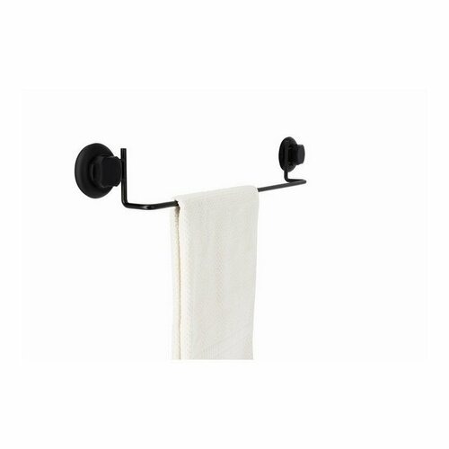 Věšák na ručníky Compactor Bestlock Black uchycení na zeď přísavkami - bez vrtání