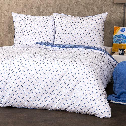 4Home Bavlněné povlečení Pruhy modrá, 140 x 200 cm, 70 x 90 cm