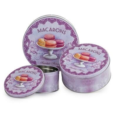 Delicious Macarons 3dílná sada dóz