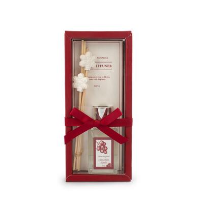 Hópehely karácsonyi illatos diffúzor Fahéj és alma, 30 ml