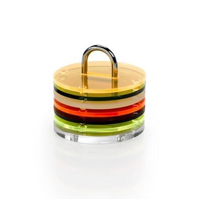 Podložky Coasters pod hrníčky, barevné
