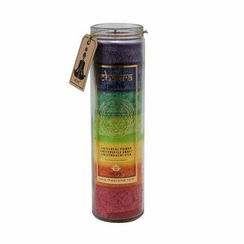 Arome Vysoká vonná svieca Chakra Univerzálna sila, 320 g