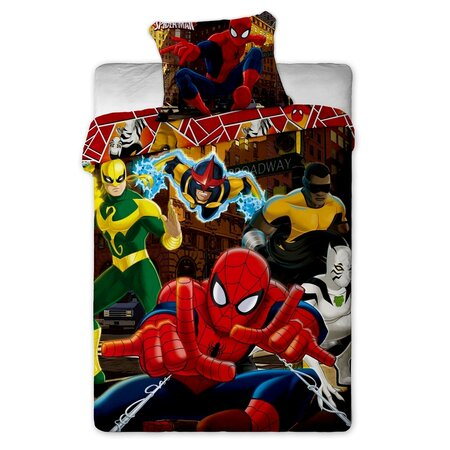 Spiderman Hero gyerek pamut ágyneműhuzat, 140 x 200 cm, 70 x 90 cm