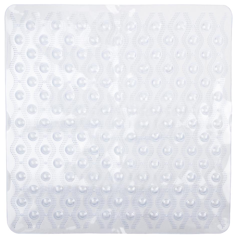 Koopman Protiskluzová podložka do koupelny Vlnka bílá 55x55