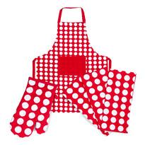 4Home Korzystny zestaw kuchenny Czerwona Kropka