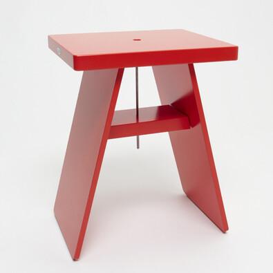 Stolička 01 červená