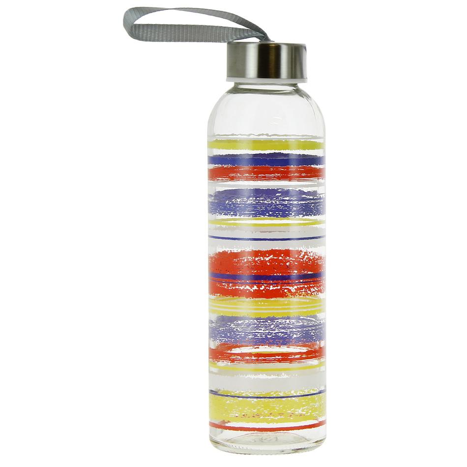 Mäser Sklenená fľaša Caraibi, 0,5 l, červená