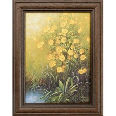 Obraz reprodukce Žluté květiny, 13 x 18 cm