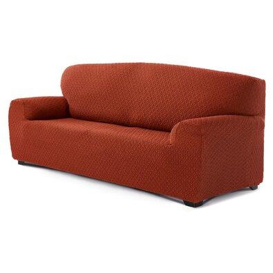 Multielastický poťah na 3-dielnu sedaciu súpravu Martin terakota, 180 - 220 cm