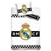 Lenjerie de pat Real Madrid Thin Chessboard, din bumbac, 140 x 200 cm, 70 x 90 cm