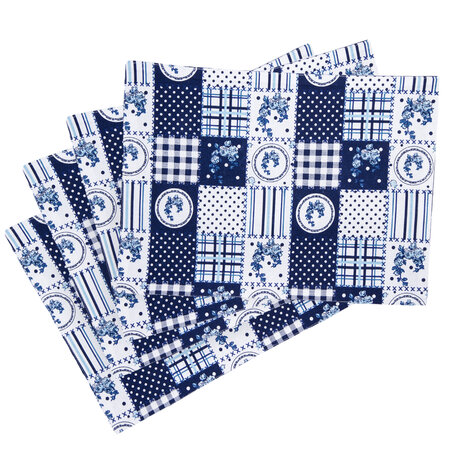 Prestieranie Country patchwork modrá, 33 x 45 cm, sada 4 ks
