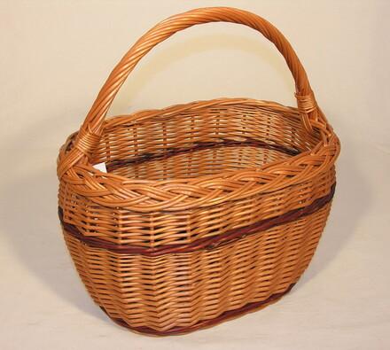 Košík vrbový nákupní, hnědá