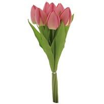 Puget růžových tulipánů, 7 květů, 35 cm
