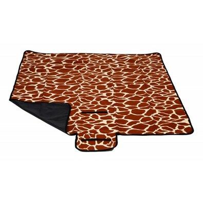 Pikniková deka hnědá, 150 x 135 cm