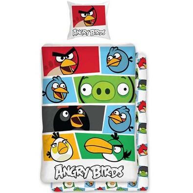 Dětské bavlněné povlečení Angry Birds 009, 140 x 200 cm, 70 x 90 cm