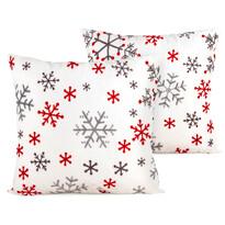 4Home Vánoční povlak na polštářek Snowflakes, 40 x 40 cm, sada 2 ks