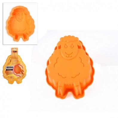 Silikonová forma ovečka, oranžová