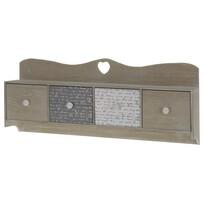 Drevená závesná skrinka so zásuvkami, 60 cm