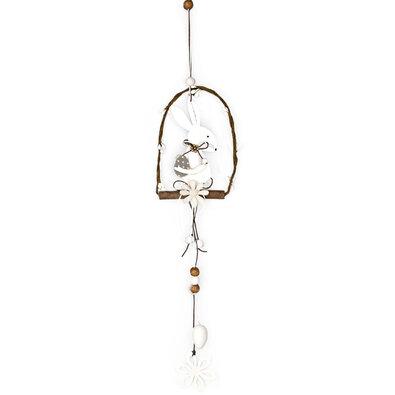 Dřevěná závěsná dekorace Velikonoční zajíček, 50 cm