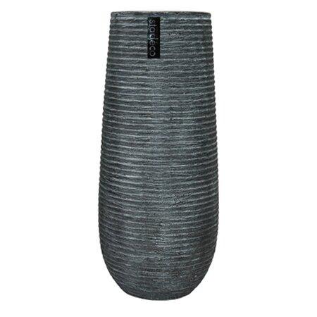 StarDeco Keramická váza Montana šedá, 36 cm