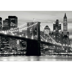 AG Art Fototapeta XXL Panorama Manhattanu 360 x 270 cm, 4 díly