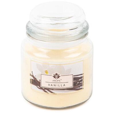 Arome Duża świeczka zapachowa w szkle Vanilla, 424 g