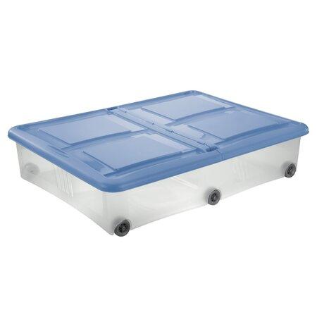 Tontarelli Úložný box s víkem Stockbox 61 l, transparentní/modrá