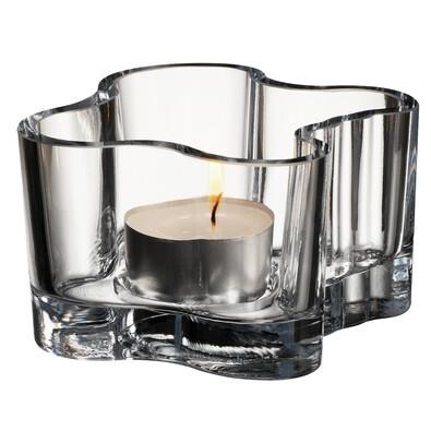 Svícen Alvar Aalto 5,5 cm, čiré sklo