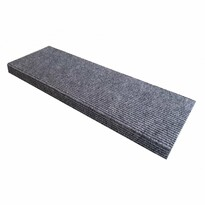 Covoraș pentru scări Quick step, oval, gri, 24 x 65 cm