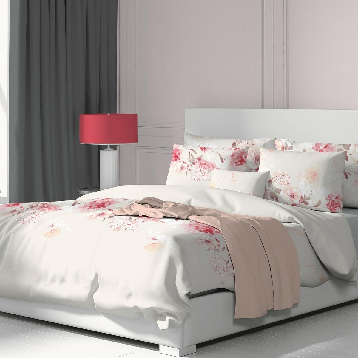 Kvalitex Bavlněné povlečení Tanea růžová, 220 x 200 cm, 2 ks 70 x 90 cm